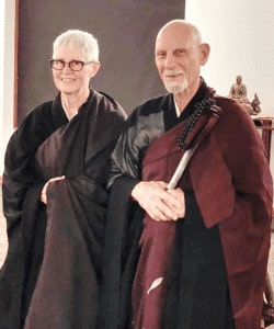 Mary Ellen Seien Sloan receiving Shiho from Genpo Merzel Roshi